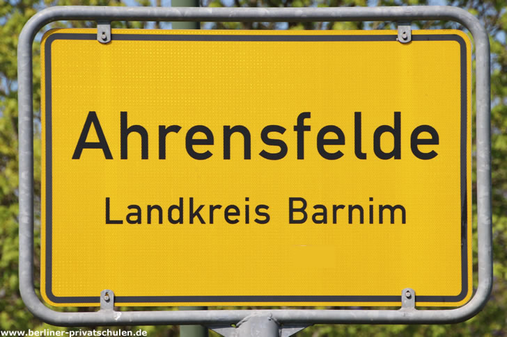 Ortsschild Ahrensfelde
