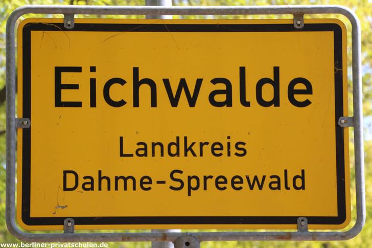 Ortsschild Eichwalde