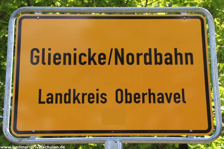 Ortsschild Glienicke/Nordbahn