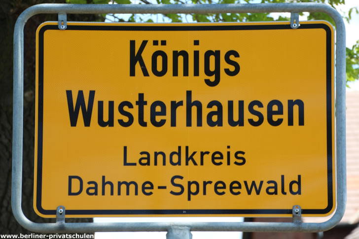 Ortsschild Königs Wusterhausen