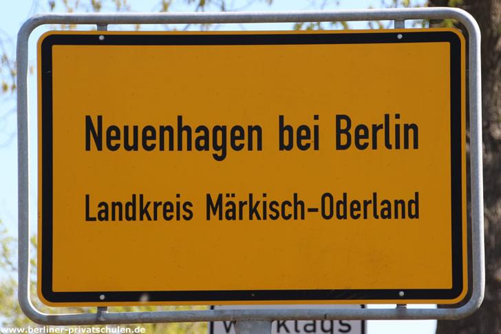Ortsschild Neuenhagen bei Berlin